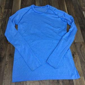 Lululemon Run Swiftly Long Sleeve Shirt Blue